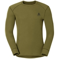 Men's ACTIVE WARM Long-Sleeve Base Layer Top, winter moss, large