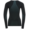 SUW TOP Crew neck l/s PERFORMANCE Essentials LIGHT, black - blue radiance, large