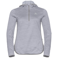 Hoody midlayer 1/2 zip STEAM, grey melange, large