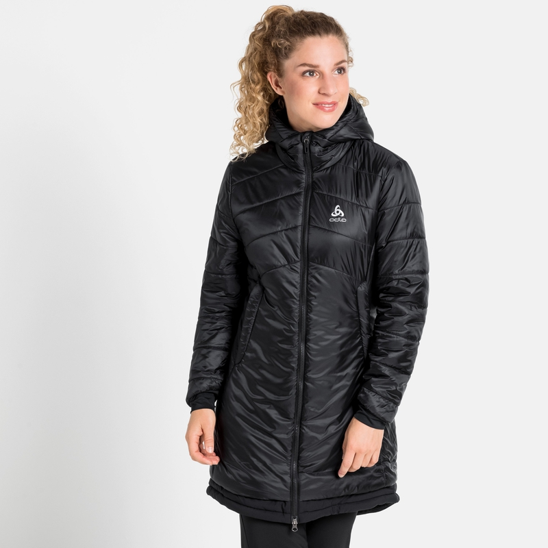 Women's COCOON S-THERMIC Parka, black, large