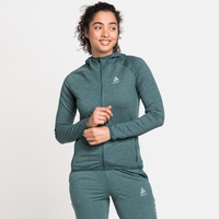 Damen RUN EASY 365 Midlayer-Kapuzenjacke, balsam melange, large