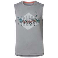 RAPTOR running tank, grey melange print, large