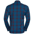 FAIRVIEW Shirt longsleeve men, mykonos blue - red dahlia - peacoat - check, large