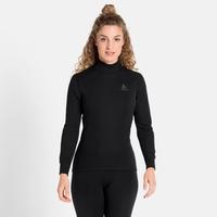 Women's ACTIVE WARM ECO Turtleneck Baselayer Top, black, large
