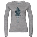 Women's ALLIANCE Long-Sleeve Top, grey melange - pine print FW19, large
