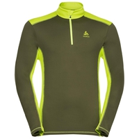 Men's STEEZE 1/2 Zip Midlayer, winter moss - acid lime, large