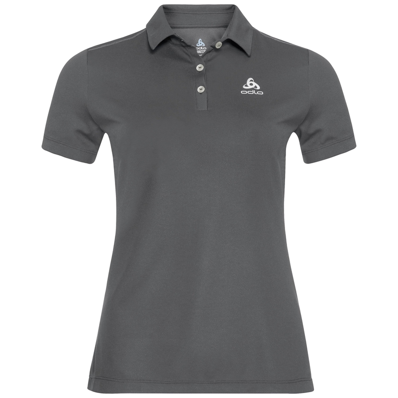 Women's TINA Polo Shirt, odlo steel grey, large