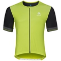 CERAMICOOL X-LIGHT kurzärmeliges Shirt mit durchgehendem Reißverschluss, acid lime - black, large