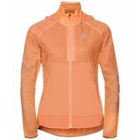 Women's ZEROWEIGHT DUAL DRY Water Resistant Running Jacket, papaya, large