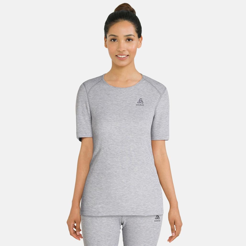 Damen ACTIVE WARM Funktionsunterwäsche T-Shirt, grey melange, large