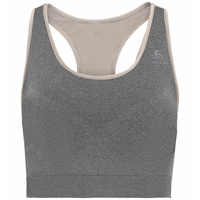 SEAMLESS MEDIUM CERAMICOOL-sportbeha, silver cloud melange, large