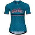 ELEMENT PRINT Radtrikot, crystal teal - retro, large