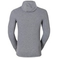 Shirt l/s with Facemask Vallée Blanche WARM, grey melange, large