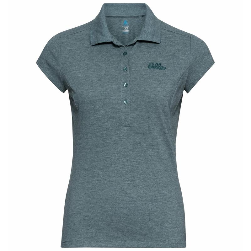 Women's KUMANO Polo Shirt, balsam melange, large
