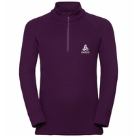 Kids 1/2 Zip WARM Midlayer, plum purple, large