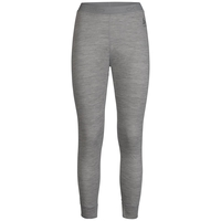 Pantaloni Base Layer NATURAL 100% MERINO WARM da donna, grey melange - grey melange, large