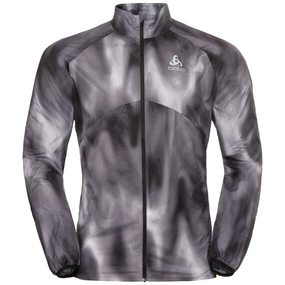 Jacket OMNIUS Light, odlo concrete grey - black - AOP FW18, large