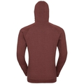 Hoody midlayer full zip Core, syrah melange, large