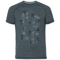 T-shirt s/s AION, black melange with TRAIN print FW17, large