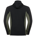Hoody midlayer full zip SPOOR, black, large