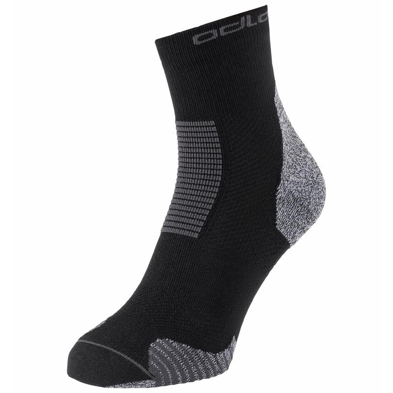 CERAMICOOL STABILIZER Quarter Socks, black, large