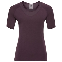 LOU MESH Baselayer T-Shirt, plum perfect, large