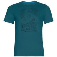 BL top girocollo manica corta Nikko Logo, blue coral - placed print FW18, large