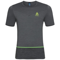 SEAMLESS KAMILERO running Shirt men, odlo steel grey - black, large
