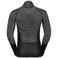 BLACKCOMB-basislaagtop met gezichtsmasker voor heren, black - odlo concrete grey - silver, large
