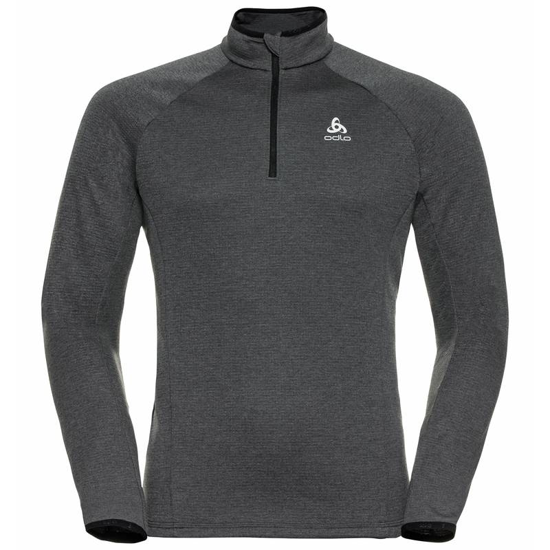 Men's PROITA 1/2 Zip Mid Layer, odlo graphite grey, large