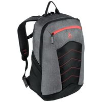 Active Rucksack-23 Liters, grey melange - chinese red, large