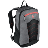 Backpack ACTIVE-23L, grey melange - chinese red, large