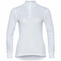 Women's ACTIVE WARM ECO Half-Zip Turtleneck Baselayer Top, white, large