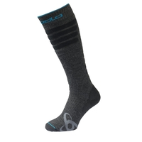 Socks extra long SKI CERAMIWARM, odlo graphite grey, large