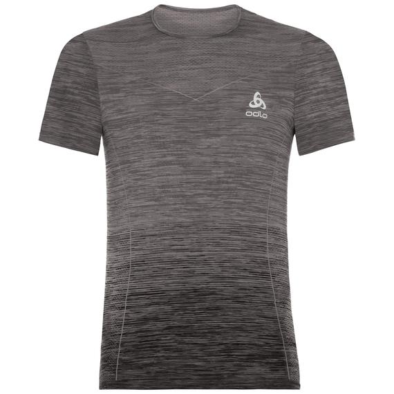 BL Top VIGOR SEAMLESS kurzärmeliges Oberteil mit Rundhalsausschnitt, odlo steel grey - black, large