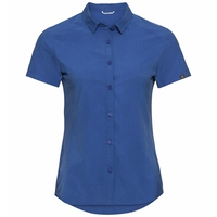 Women's FRIDA Short-Sleeve Blouse, amparo blue, large