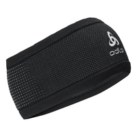 VELOCITY CERAMIWARM Headband, black - odlo steel grey, large