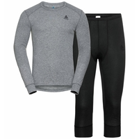 Men's ACTIVE WARM ECO 3/4 Baselayer Set, black, large