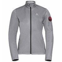 Midlayer full zip PILLON, grey melange, large