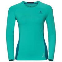 BL TOP Crew neck l/s Ceramicool pro, pool green - crystal teal, large