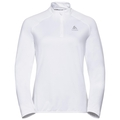 Women's CARVE LIGHT 1/2 Zip Midlayer, white, large