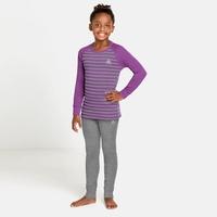 ACTIVE WARM ECO KIDS-basislaagset, hyacinth violet - grey melange - stripes, large