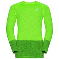 QUAGG seamless running pullover, safety yellow - black, large