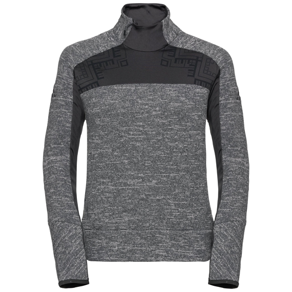 Midlayer 1/2 zip SKADI X-WARM, grey melange - odlo graphite grey, large