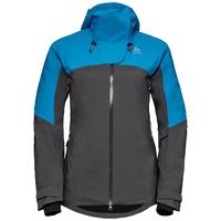 SLY X insulated ski jacket, blue jewel - odlo graphite grey, large
