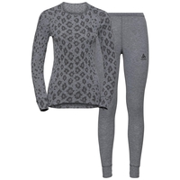 Damen X-MAS ACTIVE WARM Funktionsunterwäsche Set, grey melange - AOP FW19, large
