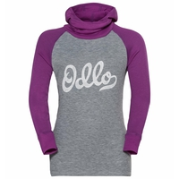 ACTIVE WARM ECO KIDS Baselayer-Oberteil mit Kapuze, hyacinth violet - grey melange - graphic FW20, large