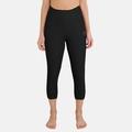 Pants 3/4 ACTIVE ORIGINALS Warm, black, large