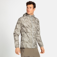 Wasserdichte Herren FLI 2,5L Jacke, silver cloud - paper print, large