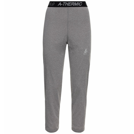 Women's ACTIVE THERMIC 3/4 Baselayer Bottoms, grey melange, large